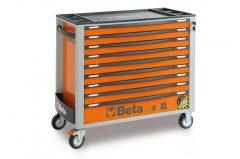Beta 2400S-XL9/E-XXL 9 fiókos szerszámos kocsi borulásgátló rendszerrel, 614 db-os szerszám készlettel