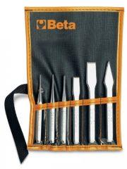 Beta 38/B6 2 kiűtő, 1 pontozó, 2 laposvágó és 1 keresztvágó, tokban