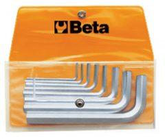 Beta 96/B8 8 részes hajlított imbuszkulcs szerszám készlet műanyag dobozban