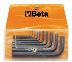 Beta 96N/B10 10 részes hajlított imbuszkulcs szerszám készlet műanyag dobozban