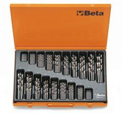 Beta 412/C150 rövid csigafúró szerszám készlet kofferban
