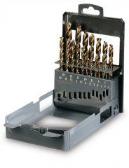Beta 416/SP19 19 részes csigafúrószerszám készlet különleges csiszolással, dupla kúpos fejjel, HSS
