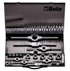Beta 447/C53 HSS menetfúró és menetmetsző készlet, metrikus normál menet