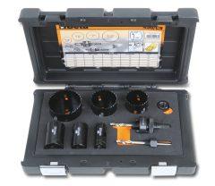 Beta 450/C9 Koronafúró készlet villanyszerelőknek, ütésálló műanyag dobozban