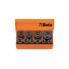 "Beta 710/C10 10 db 3/8""-os gépi dugókulcs, fémdobozban"