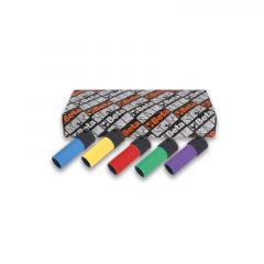 Beta 720LC/S5 5 darabos gépi dugókulcs sorozat kerékanyákhoz színes polimer betétekkel