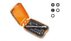 Beta 860/C27 25 csavarhúzóbetét, 1 betéttartó és 1 irányváltós racsni, műanyag dobozban