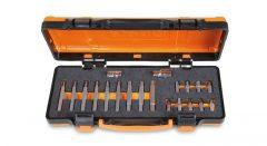 Beta 867/C20 18 RIBE® betétből álló készlet 10 mm hatlapfejű csatlakozóval és 2 tartozékkal lágy hőformázott tálcán és lemezdobozban