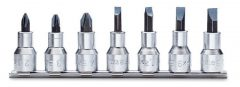 Beta 920LH/SB7 Csavarhúzó-dugókulcs készlet Phillips®-csavarokhoz krómozott, barnított fej