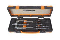 Beta 1545/C5M Belső csapágylehúzó készlet 1542/1 ellentartó 5 darab 1544 típusú belső lehúzóval, fémdobozban