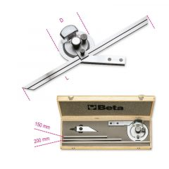 Beta 1678/C3 Dőlésszögmérő, rozsdamentes acélból, kemény dobozban