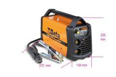 Beta 1860 140A Inverteres hegesztőkészülék egyenáram kimenettel (DC) MMA és TIG elektródás acél hegesztésekhez. kompakt és könnyen szállítható arc force, hotstart, anti-sticking, hővédelem funkciók