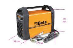Beta 1860 160A Inverteres hegesztőkészülék egyenáram kimenettel (DC) MMA és TIG elektródás acél hegesztésekhez. kompakt és könnyen szállítható arc force, hotstart, anti-sticking, hővédelem funkciók