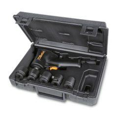 """Beta 1927XM/K5 Irányváltós kompakt csavarbehajtó és 5 gépi dugókulcs készlet műanyag táskában 1/2"""""""
