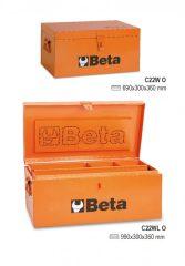 Beta C22W Szerszámláda acélból, belül fabetét a szerszámok védelmére