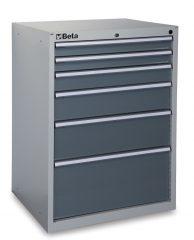 Beta C35/6G 6 fiókos ipari rögzített szerszámszekrény – szürke színben