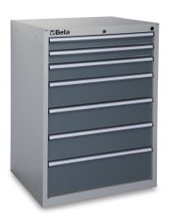 Beta C35/7G 7 fiókos ipari rögzített szerszámszekrény – szürke színben