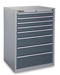 Beta C35/8G 8 fiókos ipari rögzített szerszámszekrény – szürke színben