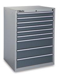 Beta C35/9G 9 fiókos ipari rögzített szerszámszekrény – szürke színben