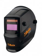 Beta 7043LCD Hegesztőpajzs automatikus sötétedéssel, ívhegesztéshez; MIG/MAG, TIG és plazmahegesztéshez, napelemes tápegység