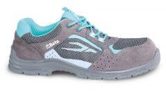 Beta 7212LG Perforált női hasított bőr cipő, mesh betéttel
