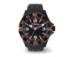 Beta 9593W Analóg óra, soft touch műanyag ház acélgyűrűvel, vízálló 3 ATM, szilikon szíj