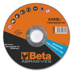 Beta 11022 vágókorong rozsdamentes acélhoz