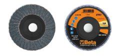 Beta 11214B csiszolótárcsák cirkónium csiszolóvászonnal, műanyag csiszolótalp, dupla lamellás kivitel
