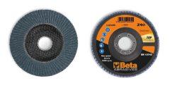 Beta 11216B csiszolótárcsák cirkónium csiszolóvászonnal, üvegszál csiszolótalp, egylamellás kivitel