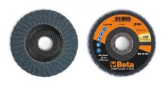 Beta 11218B csiszolótárcsák cirkónium csiszolóvászonnal, üvegszál csiszolótalp, dupla lamellás kivitel