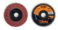 Beta 11230C csiszolótárcsák korund csiszolóvászonnal, műanyag csiszolótalp, egylamellás kivitel