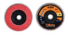 Beta 11246B csiszolótárcsák kerámia bevonatú csiszolóvászonnal, műanyag csiszolótalp, egylamellás kivitel