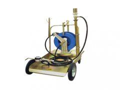 pneumatikus csévélődobos olajfeltöltő kocsi (olajpumpa), 220kg-os hordóhoz