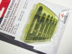 Törött csavar kitekerő készlet, 6 darabos