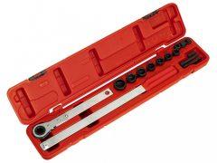 ékszíj feszítő racsnis kulcs készlet, 15 darabos