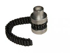 olajszűrő leszedő dugókulcs, duplaláncos, 60-115mm