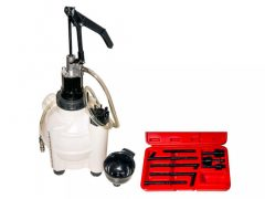 (automata) váltóolaj feltöltő pumpa 8db adapterrel, 9.5 literes