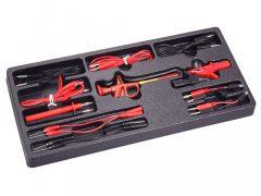 elektromos-hibakeresőhöz kábel és csatlakozó készlet, 15 darabos