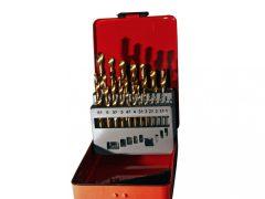fém csigafúró készlet (HSS-TiN), 19 darabos