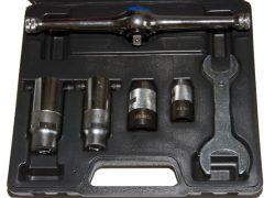 menetmetsző és menetfúró racsnis hajtó készlet, 6 darabos
