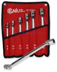 crowafej kulcs készlet, csuklós, 8-19mm, 6 darabos