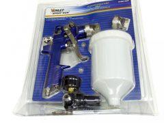 pneumatikus, HVLP festékszóró pisztoly készlet, 1.4 - 2.0mm