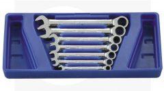 racsnis csillag-villás kulcs készlet, 8-19mm, 7 darabos