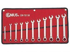 racsnis csillag-villás kulcs készlet, 8-19mm, 11 darabos