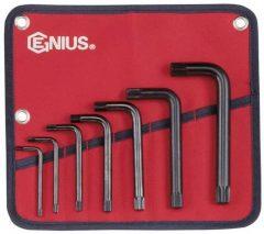 XZN (spline) kulcs készlet, 12-szögű, 7 darabos