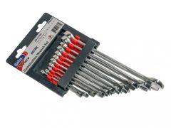 csillag-villás kulcs készlet, 7-19mm, 11 darabos