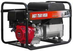 AGT 7501 HSB benzines áramfejlesztő + AVR (Automata feszültségszabályozó)  HONDA GX390, 13,0 LE olajszenzorral, 1 fázis, 6,4 kVA, hővédelem, dugalj: 1 db 16 A és 1 db 32 A, erősített váz, üzemóra szá