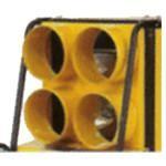 Négyirányú levegőkivezetés 4X225MM (BV310)