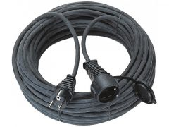 Hosszabítókábel 25 m fekete 3G1,5 gumi kábel IP 44