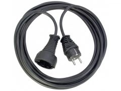 Hosszabítókábel 2m fekete 3G1,5